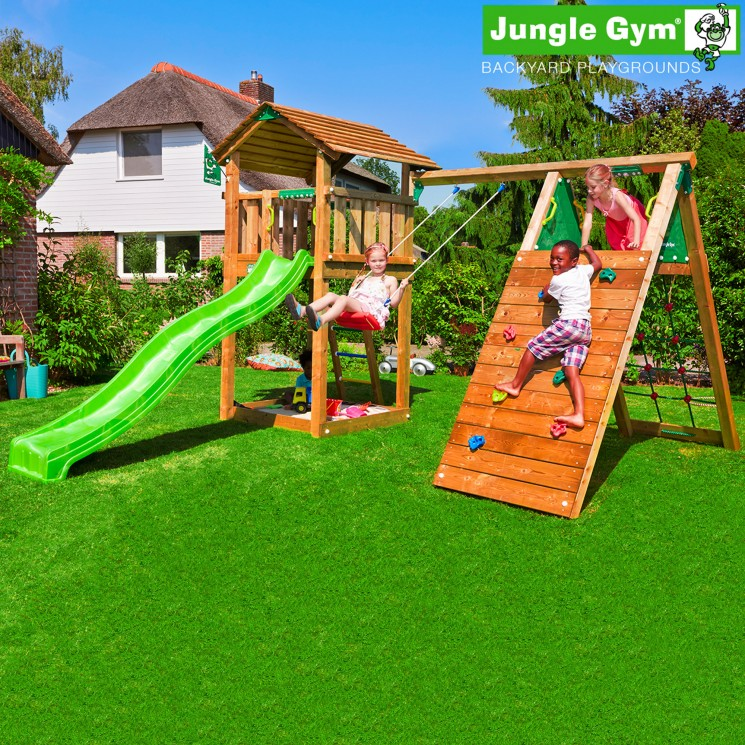 Игровой комплекс Jungle Cottage + Climb Module X'tra